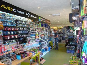 Inside Broom Fisheries Tackle Shop