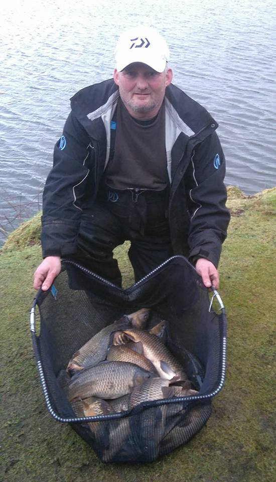 Barry Young 61lb 15oz Broom Sunday Open Match dumfriesshire, annan, match fishing,